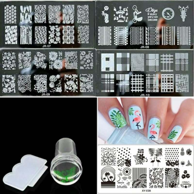 Bộ Con dấu và khuôn in tạo hình trang trí móng tay nghệ thuật chuyên dụng