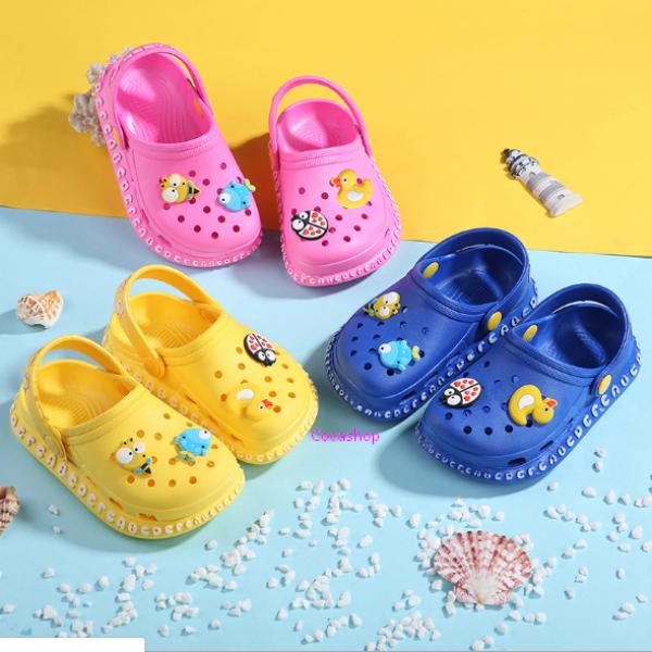 Giá bán Giày sục cao su siêu mềm cho bé trai bé gái tặng kèm 4 sticker viền chữ baby