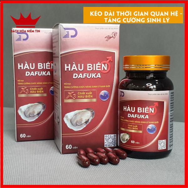 Hộp 60 viên uống Tinh Hàu Biển DAFUKA Tăng Cường Sinh Lý Nam Cường Dương - Chuẩn GMP Bộ Y Tế nhập khẩu