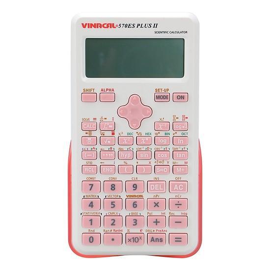 Mua Máy Tính Học Sinh Vinacal 570ES Plus II - Hồng Trắng