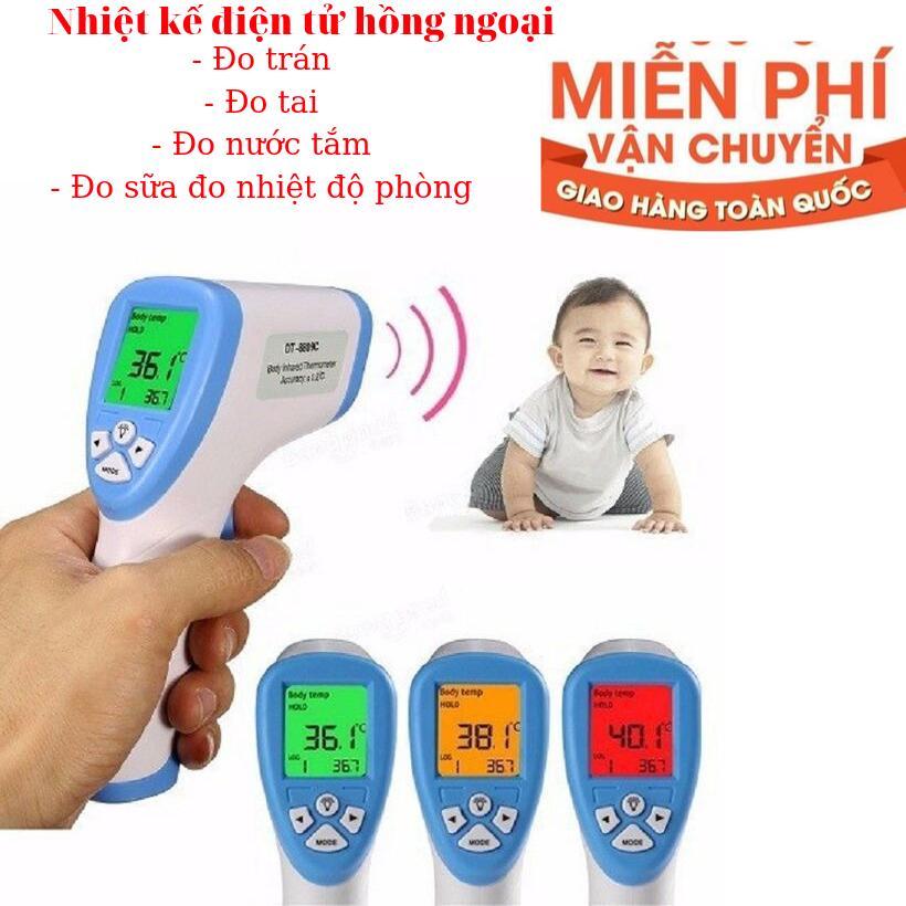 Nhiệt kế điện tử nhiệt kế hồng ngoại đo trán đo nhiệt độ sức khỏe cho các bé dễ dàng nhập khẩu