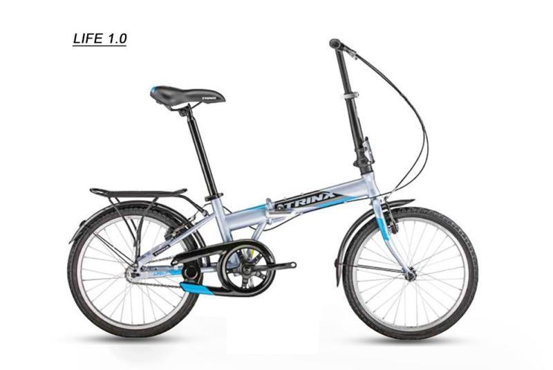 Mua Xe đạp gấp LIFE 1.0 2018 Xám xanh dương