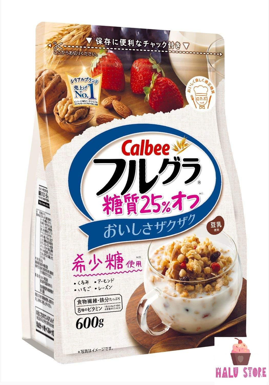 [HSD 5/2020] Ngũ Cốc Trái Cây Calbee Gói Trắng Gói 600g - Nhật Bản Siêu Khuyến Mãi