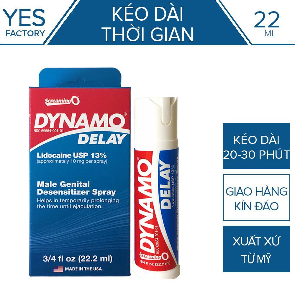 Tinh Chất Chai Xịt Dynamo Delay Mỹ - Kéo dài thời gian không mùi màu - 22ml  [ YESSHOP ]
