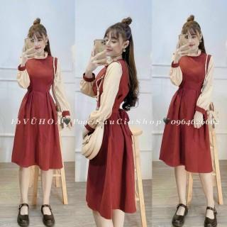 [siêu phẩm giá rẻ] Váy Babydoll Nơ Ngực Đầm Nữ Tay Bồng Dáng Suông thumbnail
