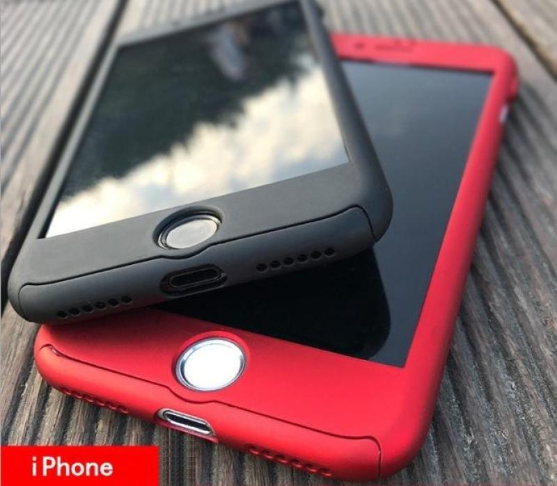 Giá Ốp lưng Iphone 5/5s, 6/6s, 6/6s Plus 7/8, 7/8 Plus chống sốc 2 mặt (có kính cường lực)