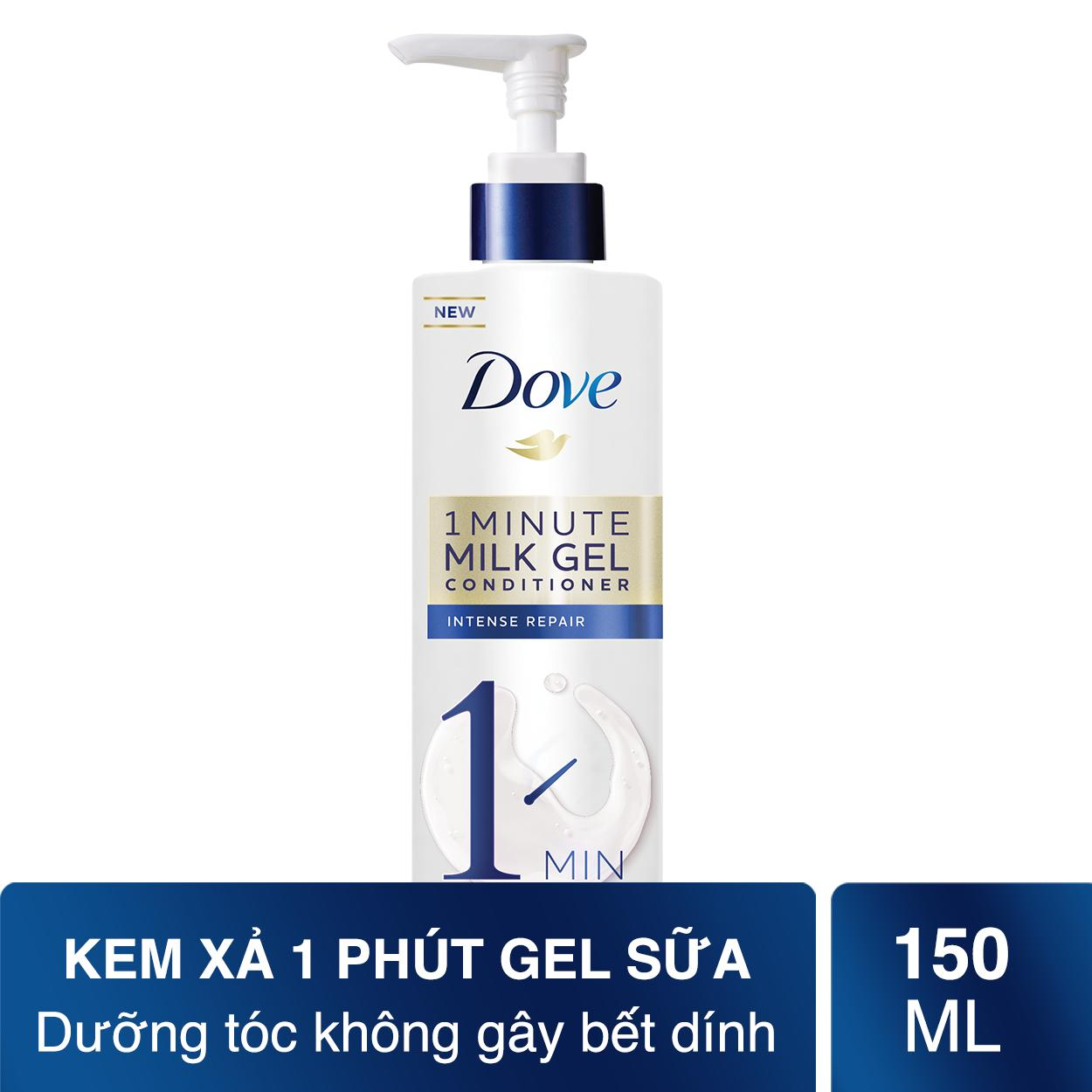 Kem xả phục hồi tóc hư tổn nặng Dove 1Minute Super Intense Repair Hair Conditioner 180ml chính hãng