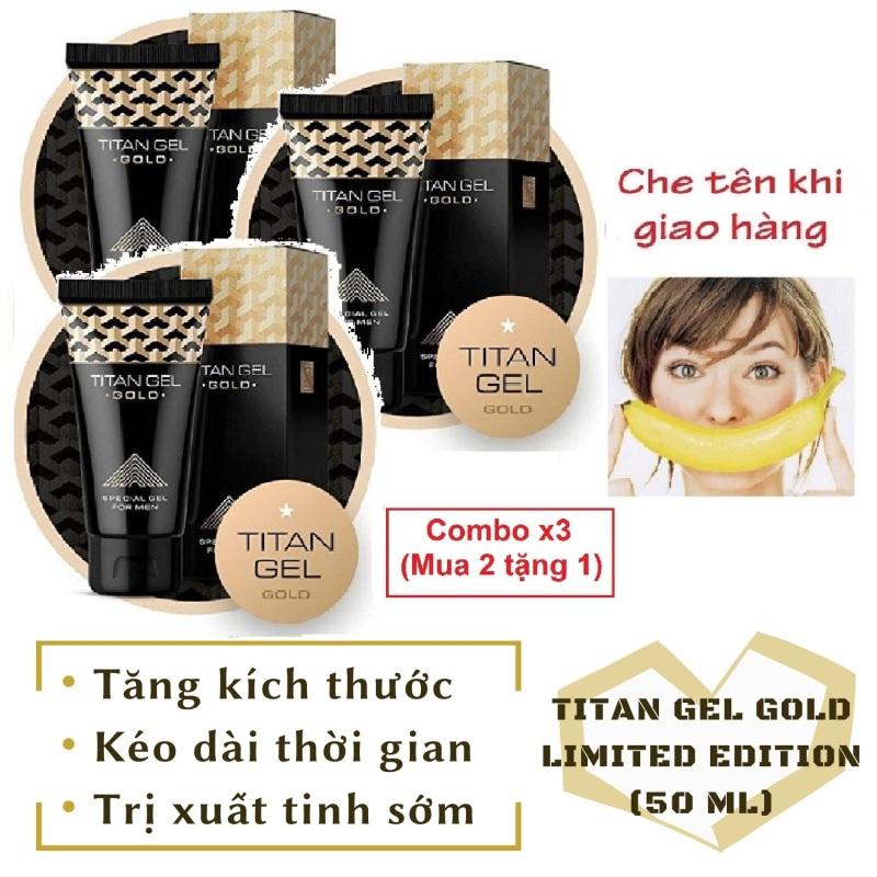 Combo x3 (mua 2 tặng 1) [Lô mới nhất] Gel Titan Nga GOLD cao cấp phiên bản giới hạn (50ml)