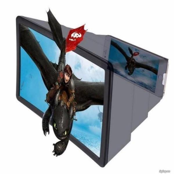 Giá Hộp kính 3D phóng to màn hình điện thoại Smartphone F2 đen