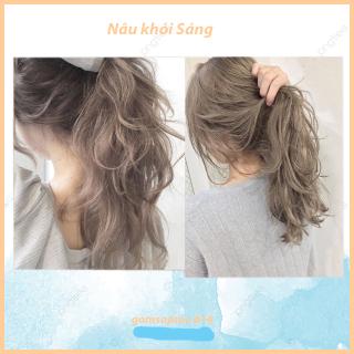 [siêu hot]Thuốc nhuộm tóc Nâu khói sáng không tẩy thumbnail