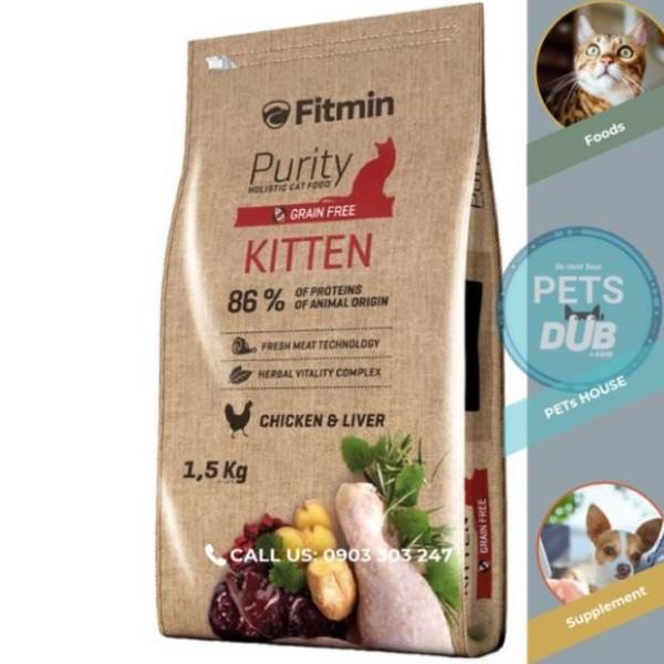 Thức ăn cho mèo con FITMIN CAT PURITY KITTEN 1,5kg (PETs dub)
