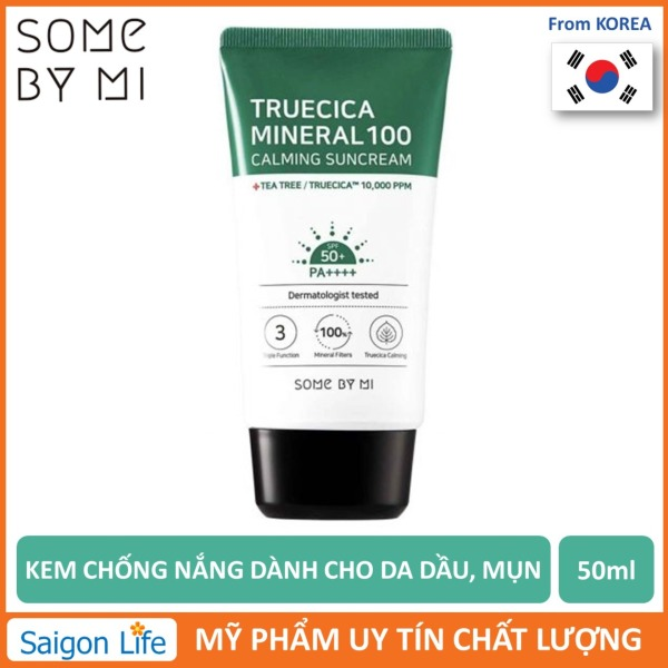 Kem Chống Nắng Some By Mi Truecica Mineral 100 Calming Suncream SPF50+/PA++++ 50ml