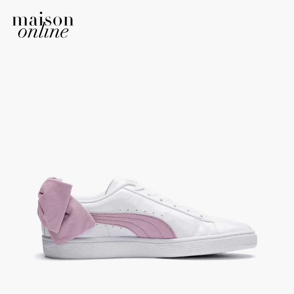 Giày PUMA Basket Bow SB Wn S  White-Winsome Or Giá Siêu Rẻ