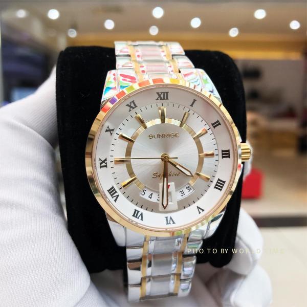 Đồng hồ thời trang Nam Sunrise DM771SWA [Full box],kính Sapphire chống xước, chống nước, bảo hành 3 năm. bán chạy