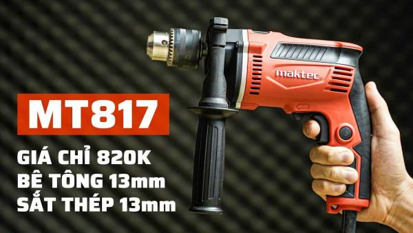 Máy khoan búa 13mm Maktec MT817 (Cam đen)
