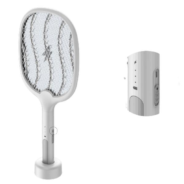 Vợt muỗi điện quang thông minh cao cấp kiêm đèn bắt muỗi pin sạc 1200 mah - Bảo hành 3 tháng - 1 đổi 1-đèn bắt muỗi-vợt muỗi-đèn bắt muỗi thông minh-máy bắt muỗi thông minh-VM01