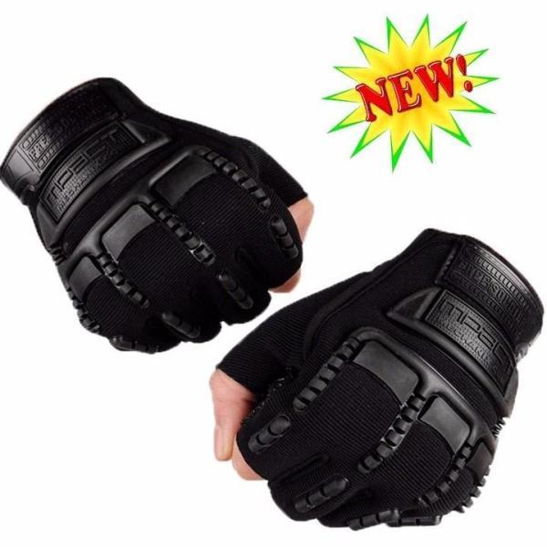 Găng tay, bao tay nam cụt ngón lái xe, tập gym, đi phượt bảo vệ mu bàn tay và tăng độ bám - Mpact