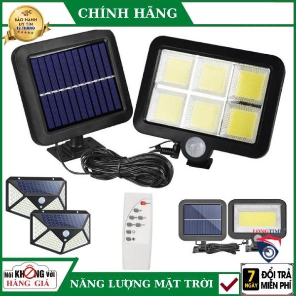 Đèn Năng Lượng Mặt Trời Solar Street Lamp 6 Bóng Led To Cảm Biến Chuyển Động, Kèm Điều Khiển Tắt Bật Từ Xa