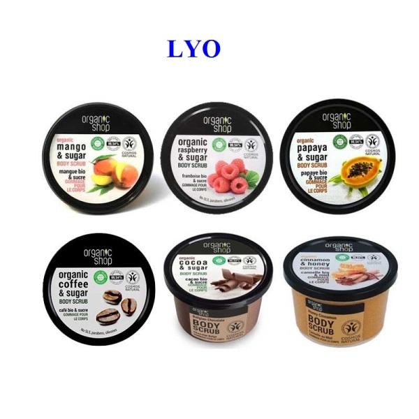 TẨY DA CHẾT TOÀN THÂN ORGANIC SHOP BODY SCRUB 250g - Lyo Shop giá rẻ