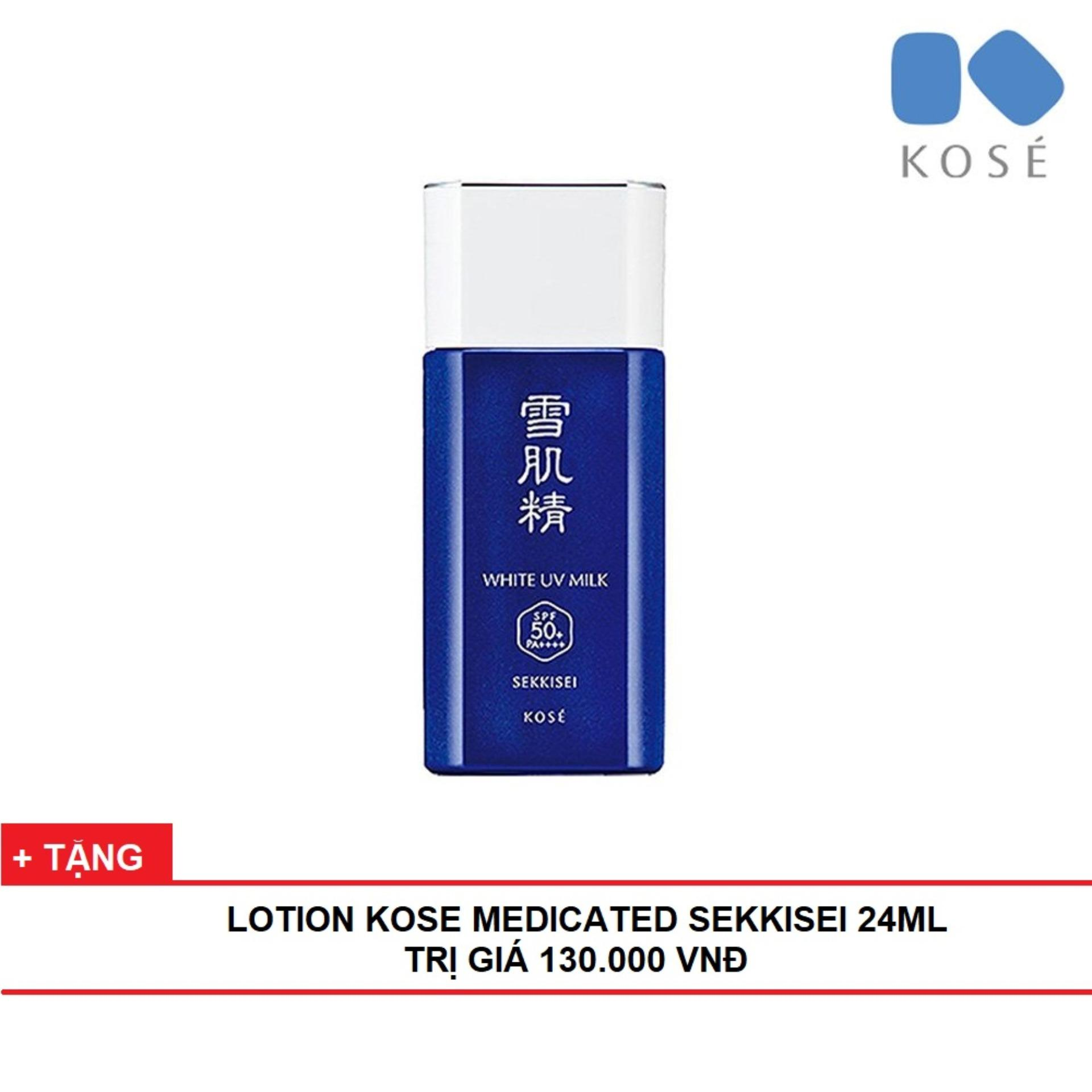 Kem Chống Nắng Kose Sekkisei White UV Milk - 60 gram - TITIAN (Mẫu Mới) nhập khẩu