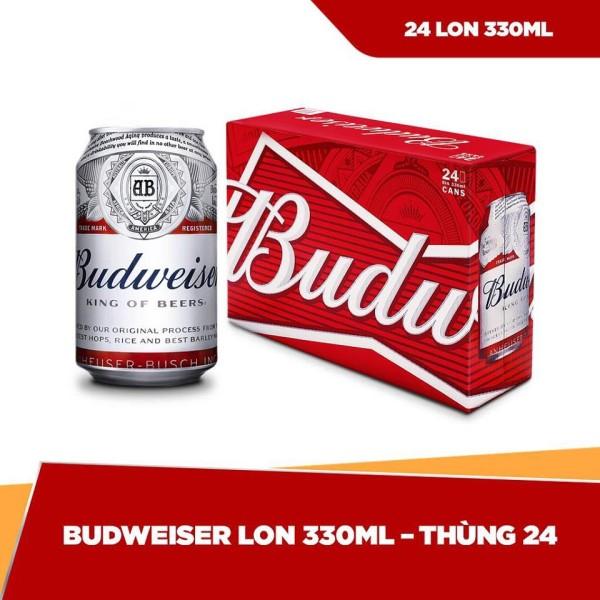 Thùng 24 lon bia Budweiser (330ml/lon)