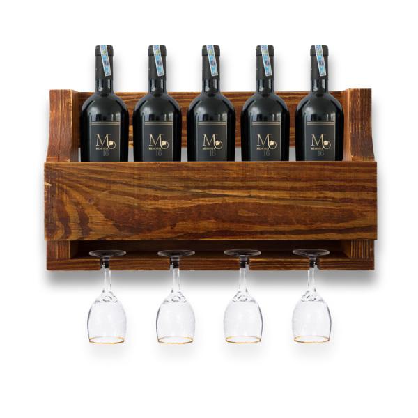 Kệ Rượu Treo Tường KR04