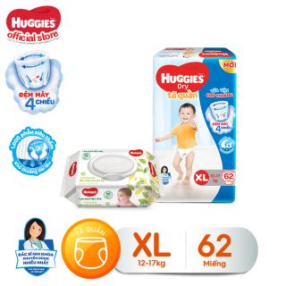 [Tặng khăn ướt 64 tờ] Tã quần Huggies Super Jumbo XL62 thumbnail
