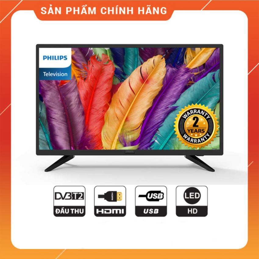 Bảng giá Tivi Led Philips 32 inch HD - Model 32PHT4003S/74 (Đen) Tích hợp DVB-T2