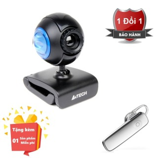 ( Tặng kèm Tai nghe nhạc Bluetooth 4.0 chất lượng cao ) Webcam tích hợp Micro cho máy tính, PC, Laptop A4tech 752F - Webcam học online tại nhà A4tech PK-752F - Webcam online kèm Micro 752F thumbnail