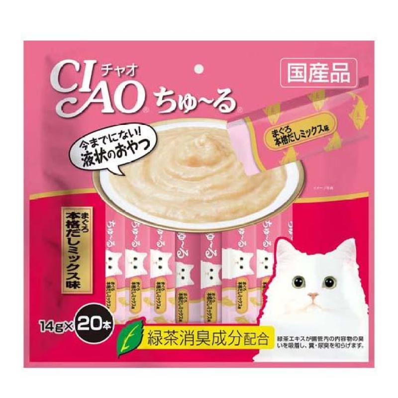 Bánh thưởng cho mèo CIAO CHURU Cá Ngừ Nhật Bản (20 thanh) - SC-191