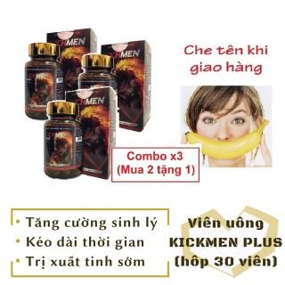 Combo x3 (Mua 2 tặng 1) Viên KICHMEN PLUS (hộp 30 viên) cao cấp tăng cường sinh lý nam mạnh mẽ 1h - hàng chính hãng thumbnail