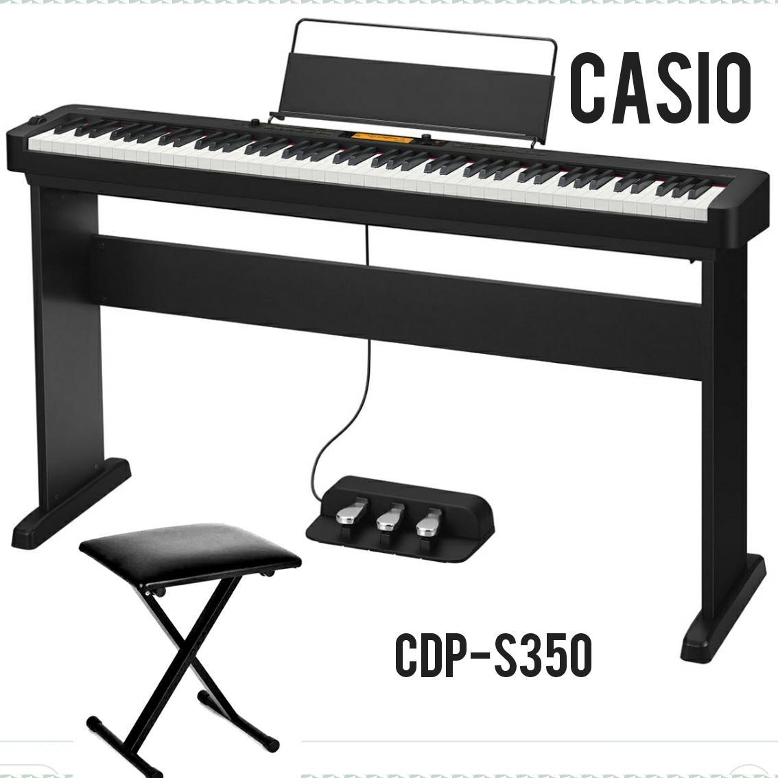 Đàn Piano điện Casio CDP-S350 + CS46 + SP34 - Mang Lại Cảm Hứng Cho Những Nhạc Sĩ ở Mọi Trình độ Và độ Tuổi, Bao Gồm Nhiều Loại Tones Và Rhythms Bất Ngờ Ưu Đãi Giá
