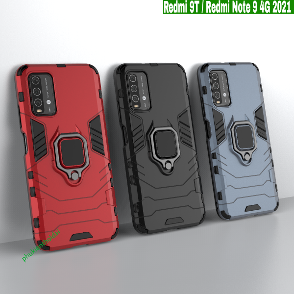 Ốp lưng Xiaomi Redmi 9T / Note 9 4G 2021 chống sốc Iron Man Iring cao cấp