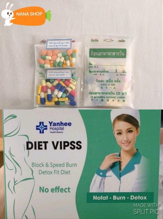 Giảm Cân DIET VIPSS Yanhee giảm mạnh [ Liệu Trình 2 tuần ] nhập khẩu