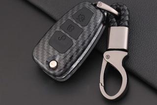 Bao da chìa khóa carbon xe Ford Ranger, Focus, Mazda BT50 chìa gập có kèm móc treo chắc chắn Bảo vệ chìa khóa khỏi va đập, tránh trầy xước, hư hỏng bộ điều khiển, giúp nâng cao tuổi thọ của chìa khóa thumbnail