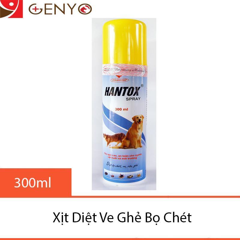 Chi xịt trị ve ghẻ, trị bọ chét chó mèo - Hantox Spray 300ml