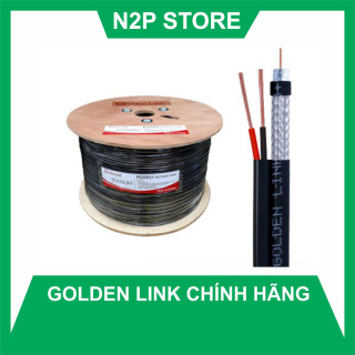 Cuộn 305M dây cáp đồng trục kèm dây nguồn Camera Golden Link Taiwan RG59U+2C thumbnail