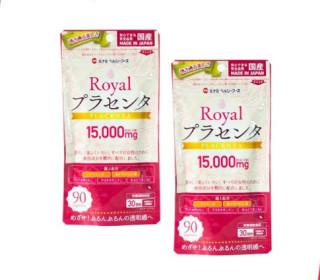VIÊN UỐNG NHAU THAI HEO ROYAL PLACENTA MINAMI ( 90 VIÊN ) - HÀNG NHẬT NỘI ĐỊA, sản sinh collagen điều hòa tiết tố nữ làm đẹp da thumbnail