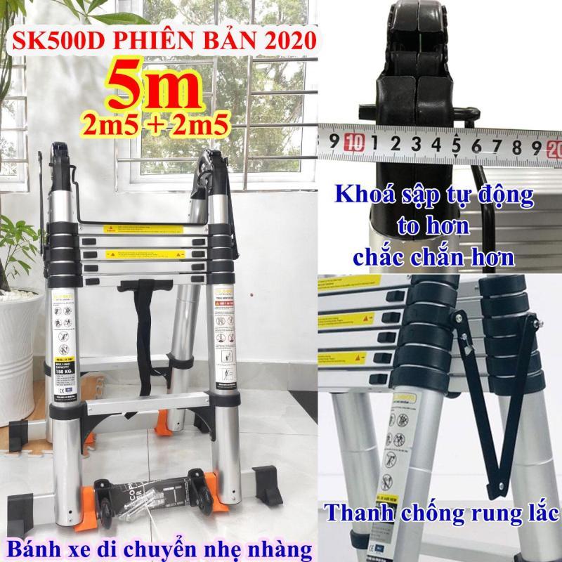 Thang nhôm rút chữ A 5m (2m5 + 2m5) Sumika SK500D