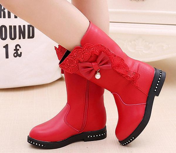 Giá bán B04DO -  Giày bốt cao cổ cho bé gái