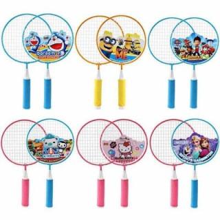Vợt cầu lông cho trẻ em, Vợt cầu lông cho bé loại ngắn tặng kèm 2 trái cầu thumbnail