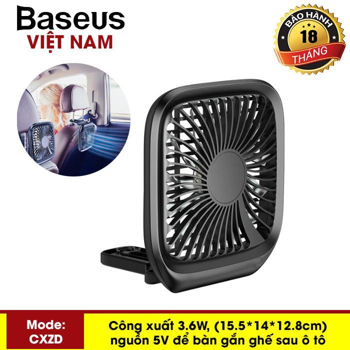 Quạt mini để bàn hoặc gắn ghế sau ô tô Baseus với 3 Tốc Độ làm mát sử dụng nguồn USB dùng cho nhân viên Văn Phòng hoặc trên xe hơi