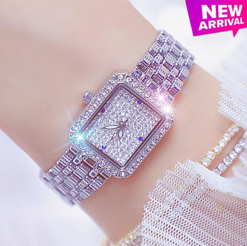 Nơi bán Đồng hồ nữ BS BEE SISTER Vuông Nhỏ Xinh Đính đá siêu đẹp - Tặng Kèm Pin ĐH Dự Phòng