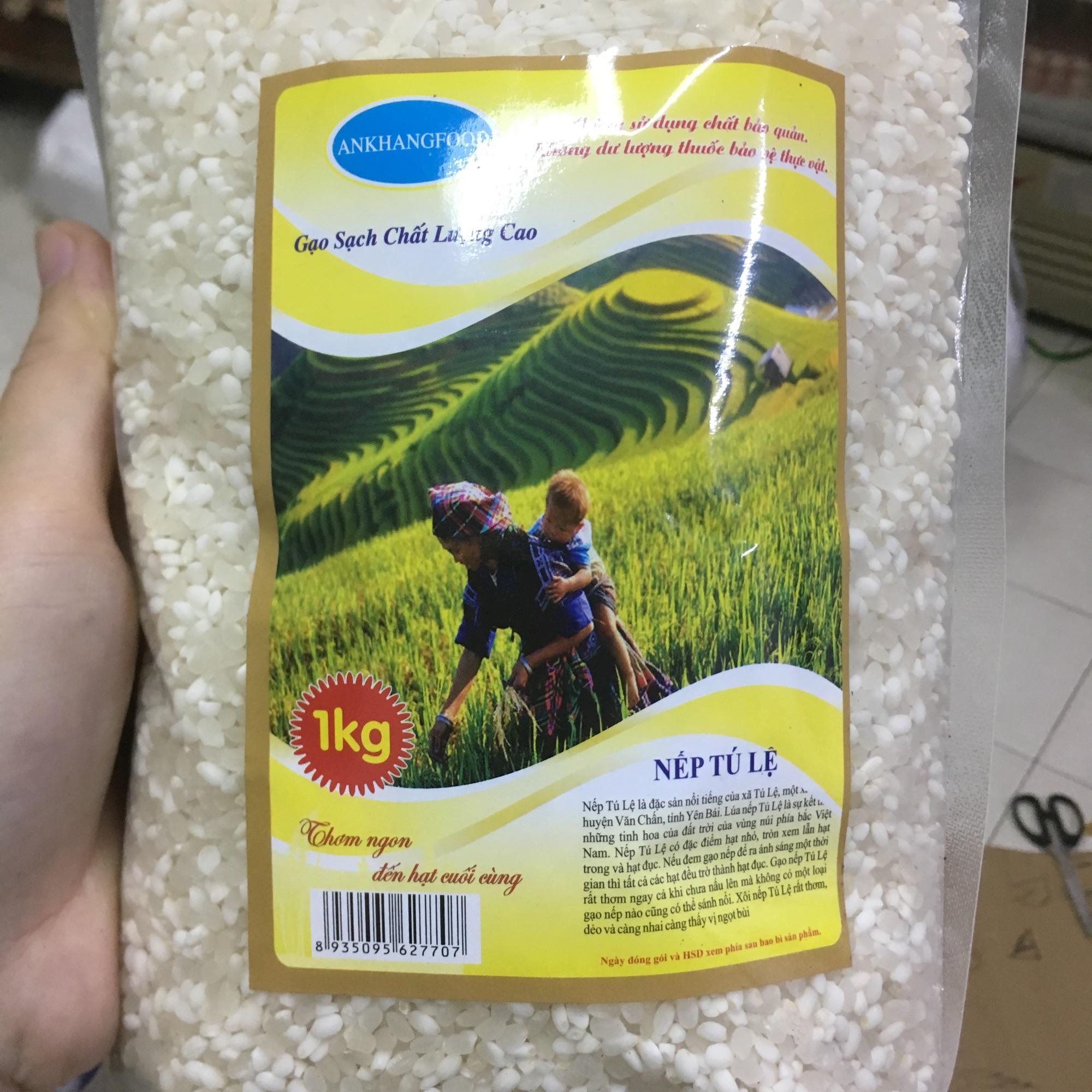 Gạo nếp Tú Lệ 1kg, đặc sản vùng cao Yên Bái