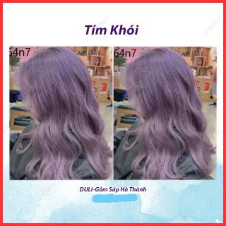 Thuốc nhuộm tóc Baby violet Tím khói dành cho cả nam và nữ kèm oxy trợ nhuộm găng tay thumbnail