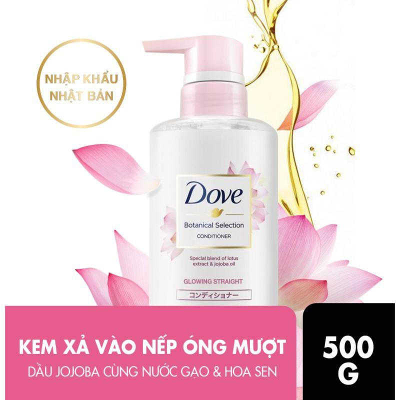 Kem xả Dove giúp tóc bóng mượt hoa sen & dầu Jojoba Botanical Selection 500g