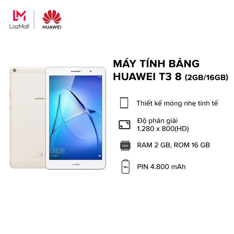 TRẢ GÓP 0%|BẢO HÀNH CHÍNH HÃNG|Máy tính bảng Huawei  T3 8inches, RAM 2GB ROM 16GB, thiết kế thon gọn, Pin khủng 4.800mAh