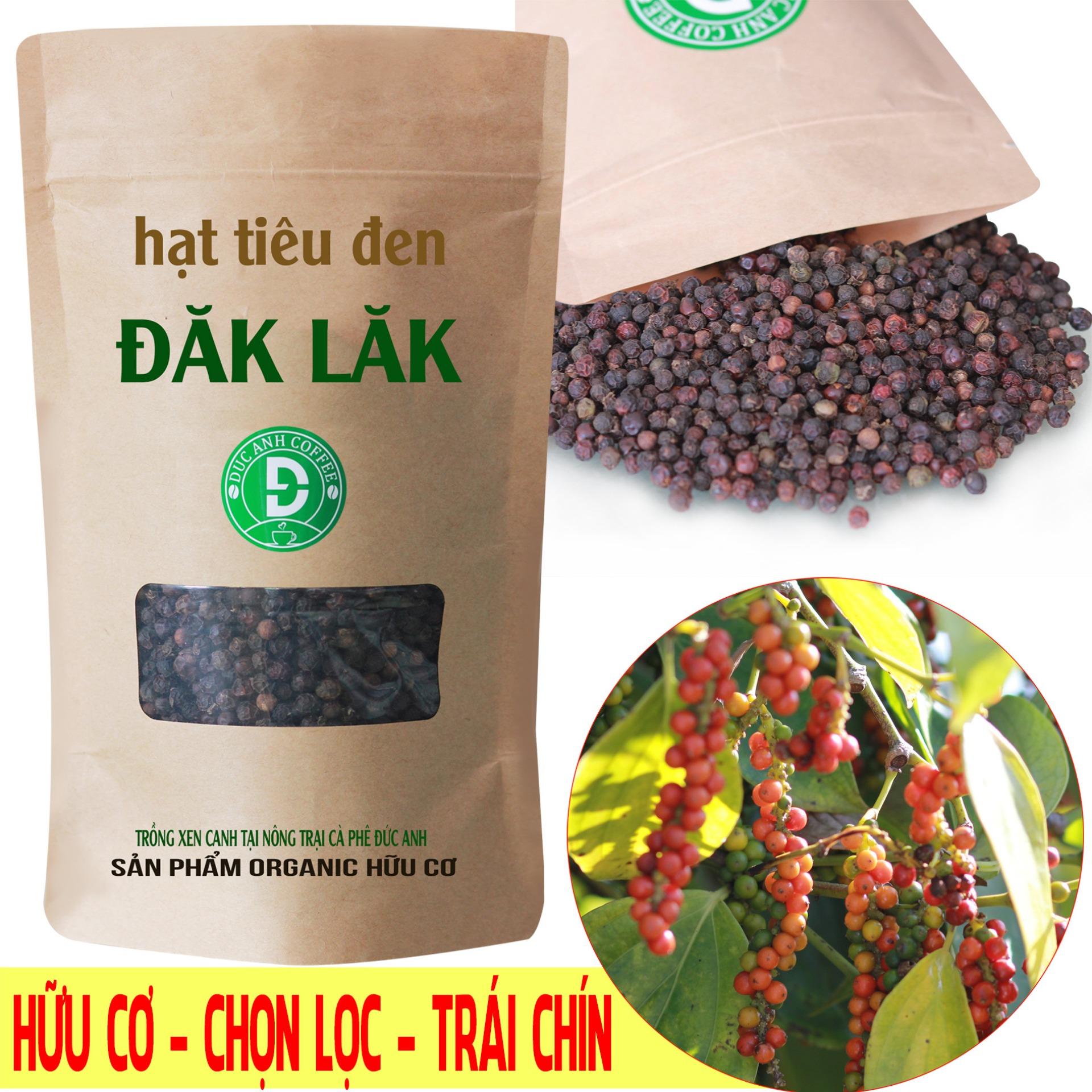 [HCM]0.2kg tiêu đen nguyên hạt mùa vụ mới - trồng xen canh cà phê tại nông trại công ty cà phê Đức Anh - sản phẩm chọn lọc trái chín - gia vị cuộc sống - DUC ANH COFFEE