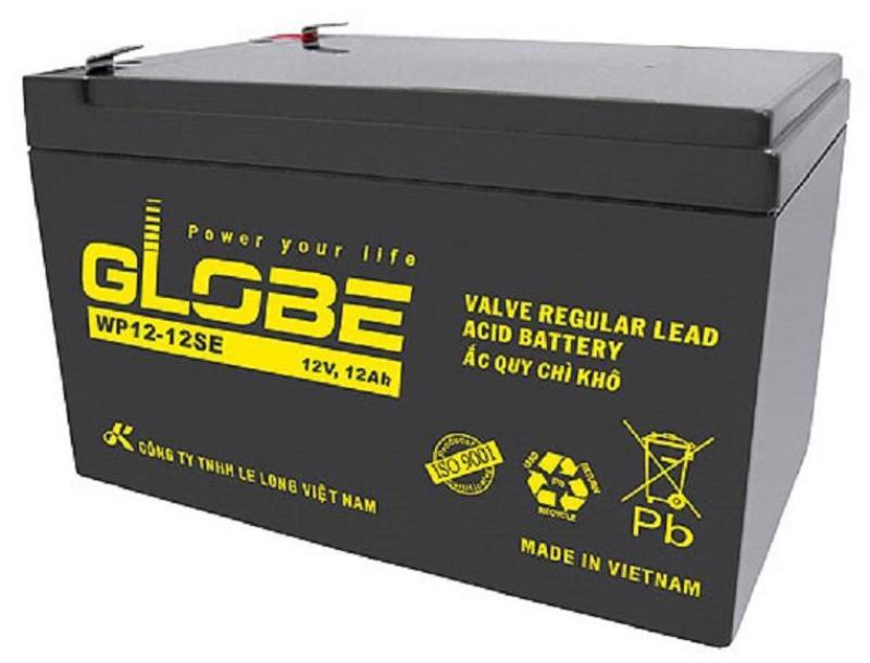 Bảng giá Ắc Quy GLOBE 12V12Ah Cho UPS Xe Điện, UPS, Cửa Cuốn Phong Vũ