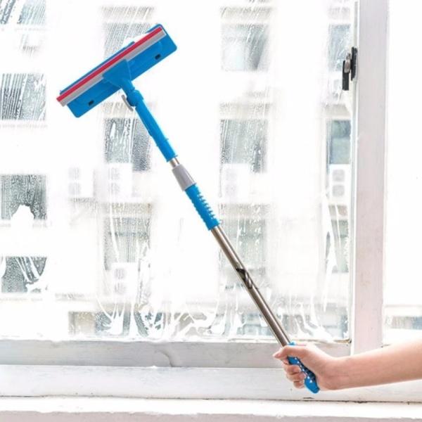 CÂY LAU KÍNH KÉO DÀI 70CM, dụng cụ vệ sinh chùi rửa kiếng thân dài tiện lợi đa năng thông minh, lau quét bụi bẩn trên cao, làm sạch bề mặt tường trần nhà cửa kính sàn nhà 0.7 met